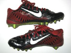 Michael Wilhoite San Francisco 49ers Game Worn & Signed Red & Black Nike Cleats