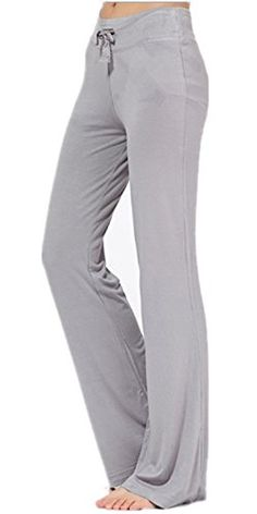 c6093a26b6311 Mullsan Womens Running Yoga Pants Fitness Trousers Bootcut XLarge Grey --  See this great product