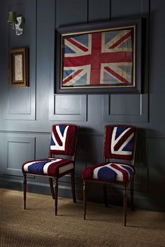 Love the Union Jack ~ and the subtle colours used in this scheme.