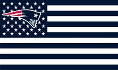 Patriots Stars and Stripes Premium Team Football Flag