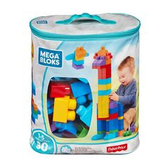 Mega Bloks Big Building Bag, Classic Who doesn't love stacking up toys, especially if it's mega blocks! A creative way for toddlers to build up to their own imagination, to play and learn at the same time. Toddler Toys, Baby Toys, Kids Toys, Brinquedos Fisher Price, Building Toys For Toddlers, Promo Amazon, Best Toddler Gifts, Big Building, Classic Building