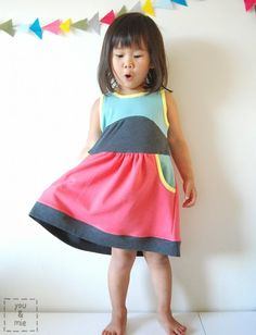 Girl Charlee Fabrics Tutorial Tuesday :: Color Blocked Soleil Dress from You and Mie