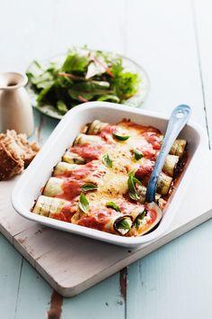 Auberginen-Cannelloni mit Basilikum - smarter - Zeit: 1 Std. | eatsmarter.de