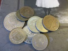 World Coins 9 Pieces For Your Mixed Media by LeapingFrogDesigns, $6.00