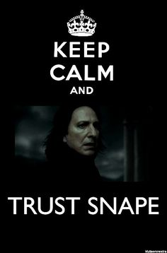 It's odd how often we are reminded that, in order to trust Dumbledore (which is easy), we also have to trust Snape (which is not).
