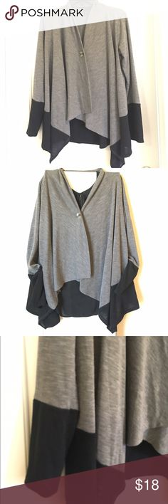 Stylish cardigan Like new perfect condition! Two tone trendy cardigan Sweaters Cardigans