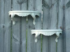 Upcycled Wall Shelves in Cream/Off White by Erindee on Etsy, $30.00