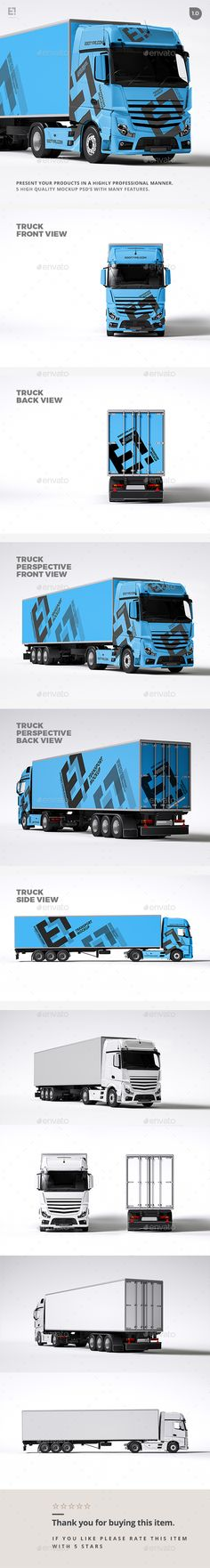 Truck Mock Up  PSD Template • Download ➝ https://graphicriver.net/item/truck-mock-up/17097695?ref=pxcr