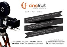 #explainer_video  >Grabs audience attention >Explain your product  >Answer's basic question  #cinefruit will fulfill your requirement