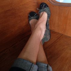 Camo ballet flats EUC soooo cute! Army material with black sparkle toes 💕 Shoes Flats & Loafers