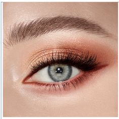 Copper Eye Makeup, Copper Eyeshadow, Metallic Eyeliner, Eyeshadow For Blue Eyes, Blue Eye Makeup, Eyeshadow Makeup, Eyeshadow Palette, Coloured Eyeliner, Makeup Hazel Eyes