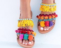 Cuero sandalias Aysel sandalias hechas a mano por DimitrasWorkshop