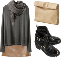 """""""tan (ii)"""" by cassieella ❤ liked on Polyvore"""