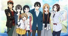 I have strong feels about this beautiful dysfunctional little family. Kline is the weird uncle, Kirito and Asuna are the mom and dad, Sinon is the adopted troubled teen, Yui is the daughter, Scilica, Lizbeth and Leafa/Suguha are the adopted children/cousins.