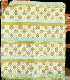 Sandra's Strip Quilt with the Joel Dewberry fabric Aviary 2