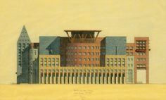 Denver Library, South Elevation / Michael Graves