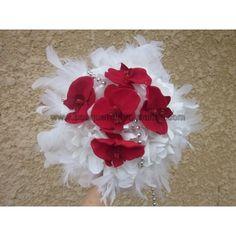 Bouquet mariée orchidée fushia ou rouge