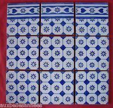 Ancien carreau de faience terre cuite motif bleu - Carrelage motif ancien ...