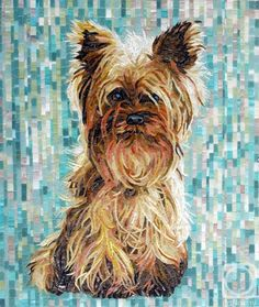 Yorkshire Terrier - Mosaic...I want this for my house!