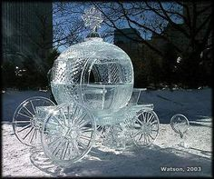 Stunning Cinderella carriage carved from ice.