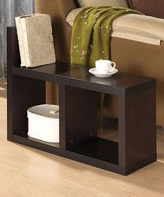 This Espresso Camille Bookshelf Side Table is perfect! #zulilyfinds