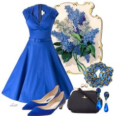 Blue Vintage by christa72, via Polyvore