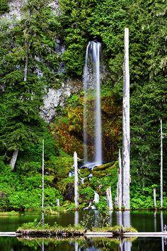 Waterfall near Mt St Helens