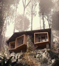 ♻ Bukit Lawang Lodge I Architect: Foster Lomas I Location: Medan, Indonesia I Image Credit: Foster Lomas, © 2012