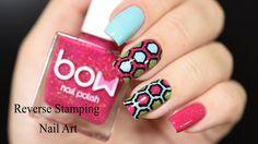 Reverse Stamping Nail Art Tutorial