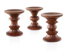 Three Eames Walnut Stools, each with a distinct profile. Plywood Furniture, Eames Furniture, Plywood Chair, Modern Furniture, Eames Eiffel Chair, Eames Chairs, Eames Dining, Room Chairs, Eames Rocking Chair