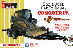 Conquer your job with GVWR tilt trailers from BWise! Tilt Trailer, Getting Things Done, Master Chief, Trailers, How To Get, Wheelbarrow, Get Stuff Done, Pendants