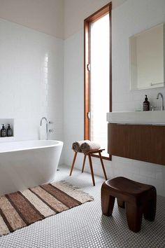 Modern simplicity is always an option for your new bathroom! #SimpleDesign #Bathroom #Inspiration