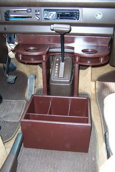 There's no center console for our Westy! This looks like it'd be fun to build and a great way to stay organized.