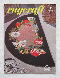 """""""Rugcraft"""" - guide to rugmaking with Patons Turkey Rug Wool (SC32, early 1950s) (SOLD)"""
