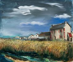Wheat Field and Houses, 1928. Maurice de Vlaminck