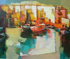 """Saatchi Art Artist Alex Bertaina; Painting, """"Nel porto"""" #art"""