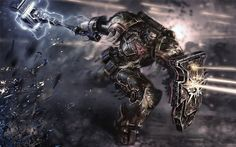 wh40khq:  -njord-:  For some time I've considered this piece of art one of the best 40K art I've ever seen. I mean, just look at it! O.o (Thanx warhammer-fan-art for posting it) But I've never been able to actually figure out or confirm what chapter he is from because i.e. to the lack of insignias. Some people think he's a buffed up Rogue Trader and other thinks he's a from a fan-made chapter. I'm leaning to the latter. Anyone of you have solid info? Would be really nice to know ...
