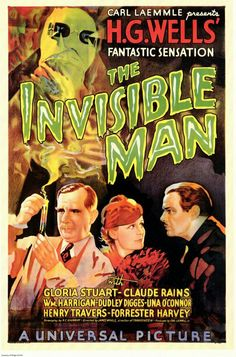 The invisible man ( 1933) movie poster.