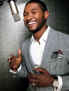 usher has a gorgeous smile