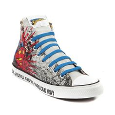 Shop for Converse All Star Hi Man of Steel Sneaker in Gray Red Blue at  Journeys aa5bdd5f60