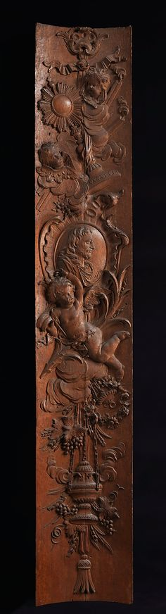 Panel (one of a pair), Date: second quarter 18th century, Culture: French, Medium: Carved oak