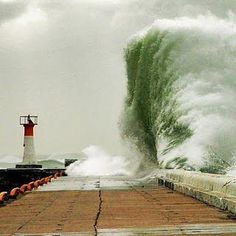Think about the power in one such a wave...