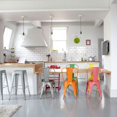Ways to add colour to an all white kitchen