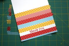 How to make washi tape thank you cards