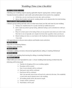 PrintableWeddingChecklistPdf  Check List    Pdf And