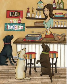 """""""Labs and Lasagna""""  Please follow me on Facebook for Giveaways and Sales!"""