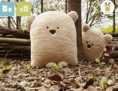 Симпатичные маленькие медведь Плюшевые игрушки Подушка Подушка 4 Девушка в подушки из дома и сада на Aliexpress.com