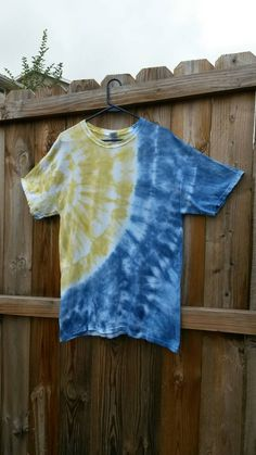 St Louis Rams Colors! Blue and gold shirt, blue and yellow shirt. Coupon code PIN10 receives 10% off your purchase!  Check out this item in my Etsy shop https://www.etsy.com/listing/203026417/blue-and-gold-tie-dye-shirt