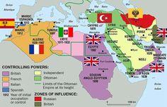 Así estaba repartido el Gran Oriente Medio antes de la Primera Guerra Mundial