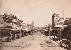 Swanston St,Melbourne in Victoria looking south 1876.